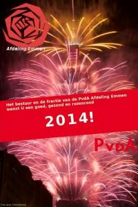 PvdA Emmen wenst U een goed, gezond en rozenrood 2014!